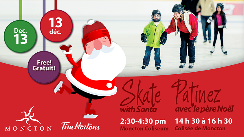 moncton skate santa christmas kids activities free