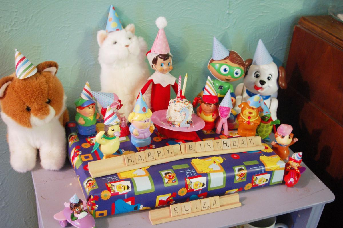 December Birthday Elf Shelf Christmas Party Ideas