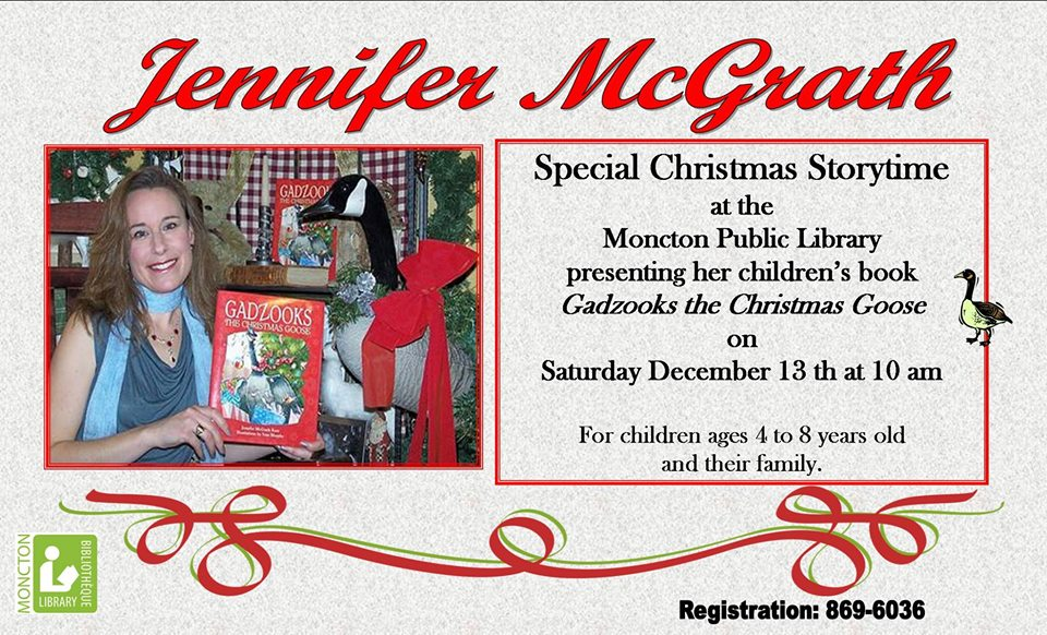 christmas storytime moncton library jennifer mcgrath gadzooks