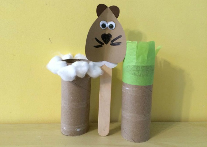 groundhog day craft momstown february